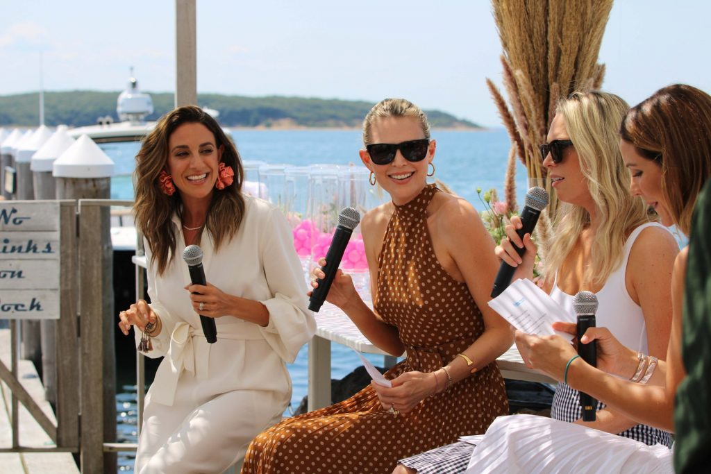 The Hamptons luncheon hosted by Frida Mom CEO, Chelsea Hirschhorn, and included special guests Sara and Erin Foster to continue the conversation on motherhood and postpartum recovery.