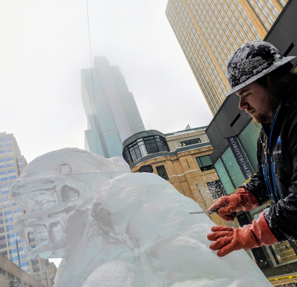Ice carving artist and Ice Lab Ice Sculptures founder Casey Lee Conner.