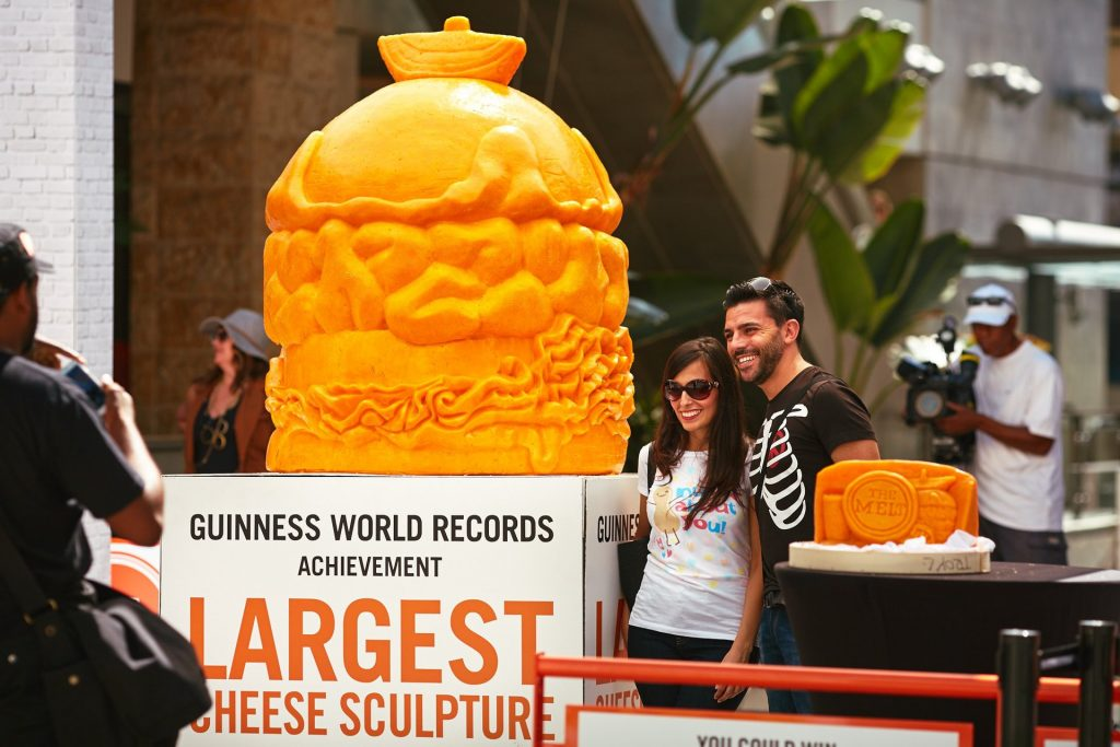 Troy Landwehr was the carving artist BeCore hired to create the world's largest cheese sculpture.