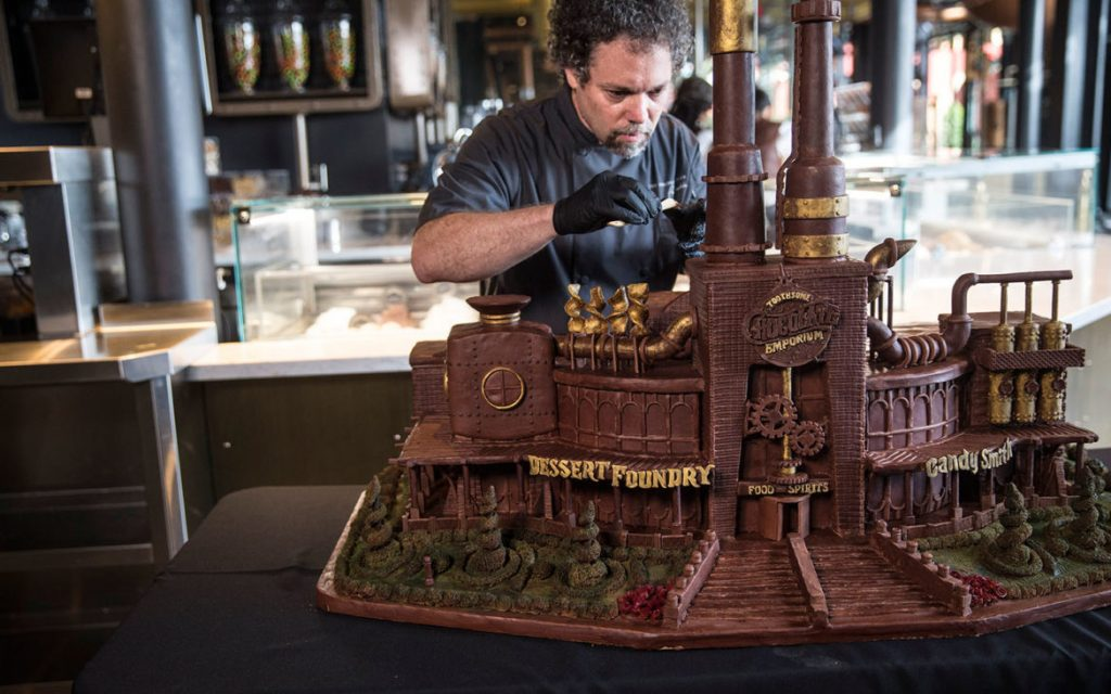 The Chocolate Genius aka Paul Joachim is an internationally known chocolate carving artist.