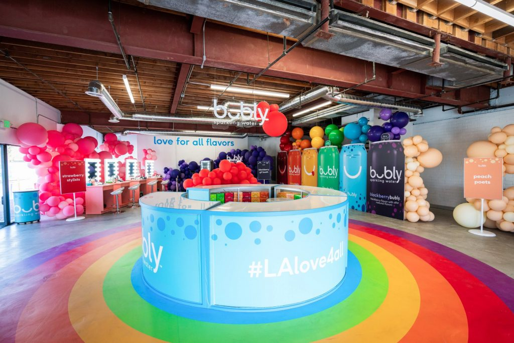 O Hello Media created the shot list template and managed all things content for the Bubly Sparkling Water and Motive pop-up at LA Pride.