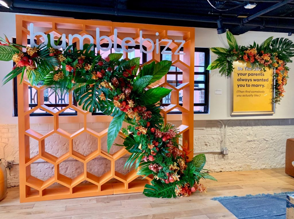 Female entrepreneurs networked and brunched with Bumble Bizz at the app's Bumble Bizz Hive pop-up held at SHOWFIELDS during New York Fashion Week.