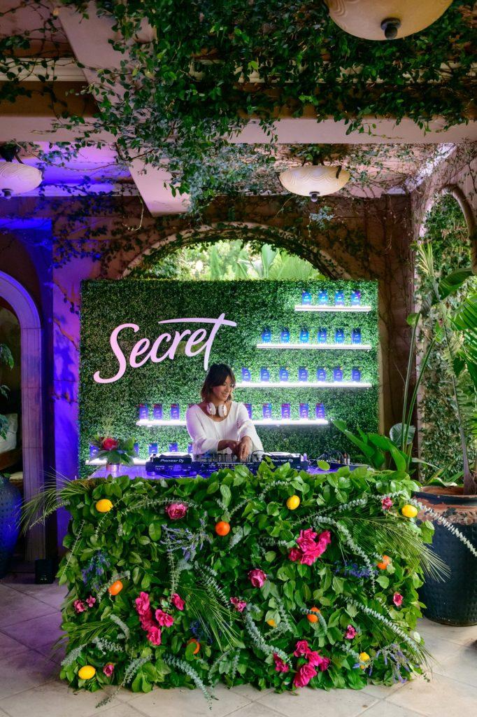 Dera Lee's experiential design for the Secret Deodorant Essential Oils Launch