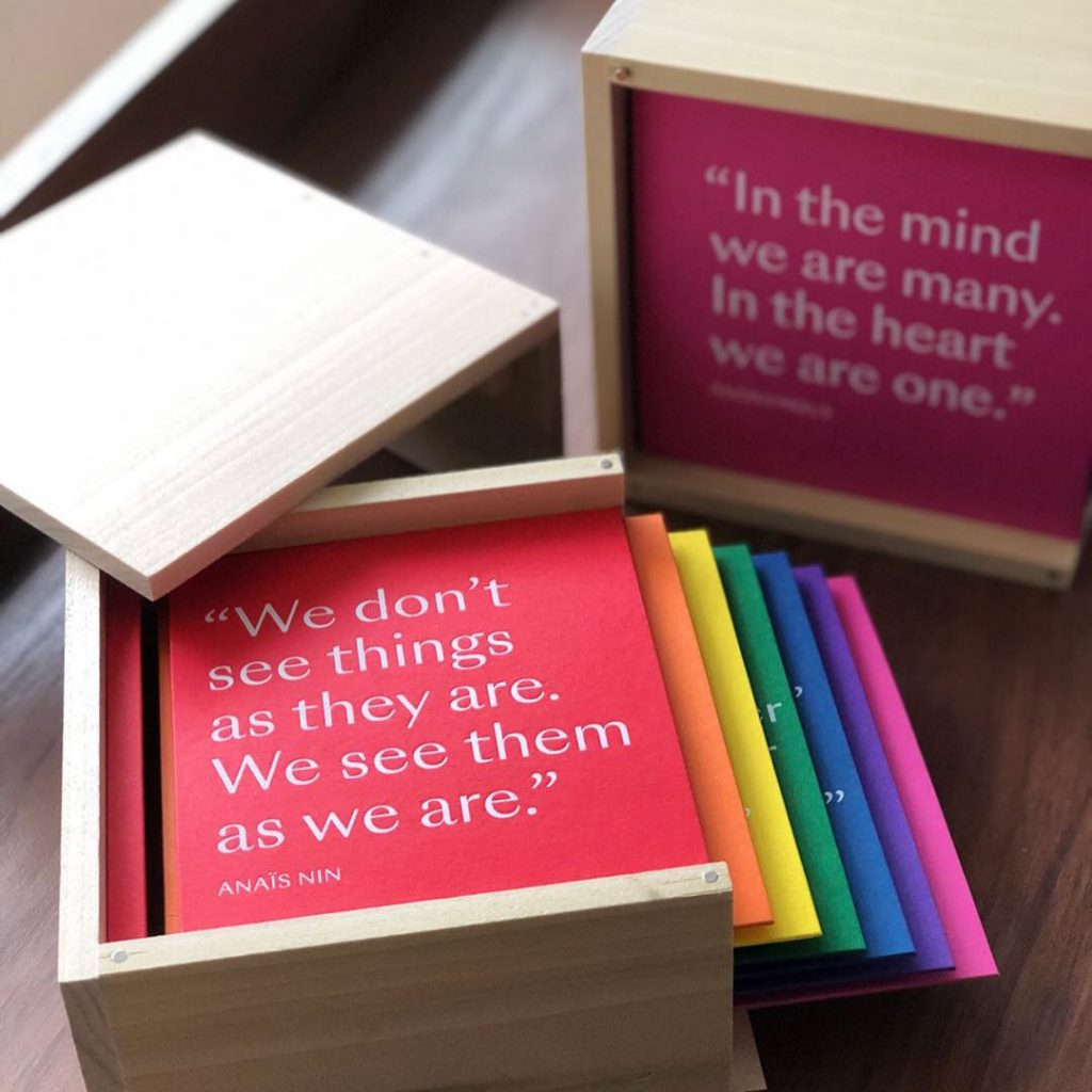 This presentation box allowed guests to interact with the speaker as she gave her talk at a conference in California.